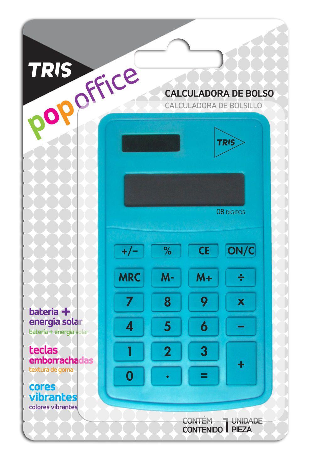 Calculadora De Bolso Pop Office Tris