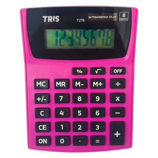 Calculadora Eletrônica 8 Dígitos Pop Office Rosa Tris