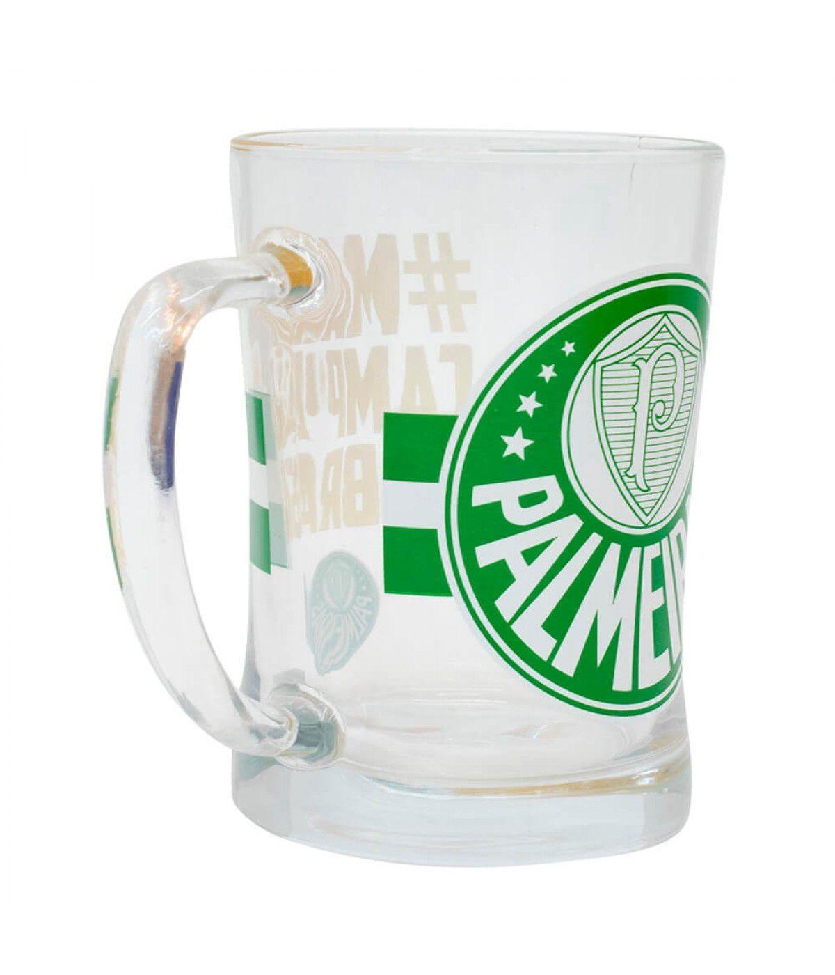 Caneca De Vidro 660ml -Palmeiras
