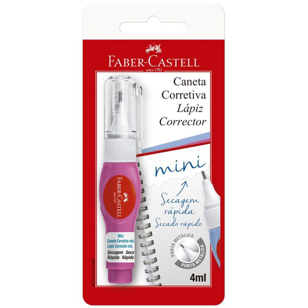 Caneta corretiva 4ml Mini SM/CC4ML Faber Castell