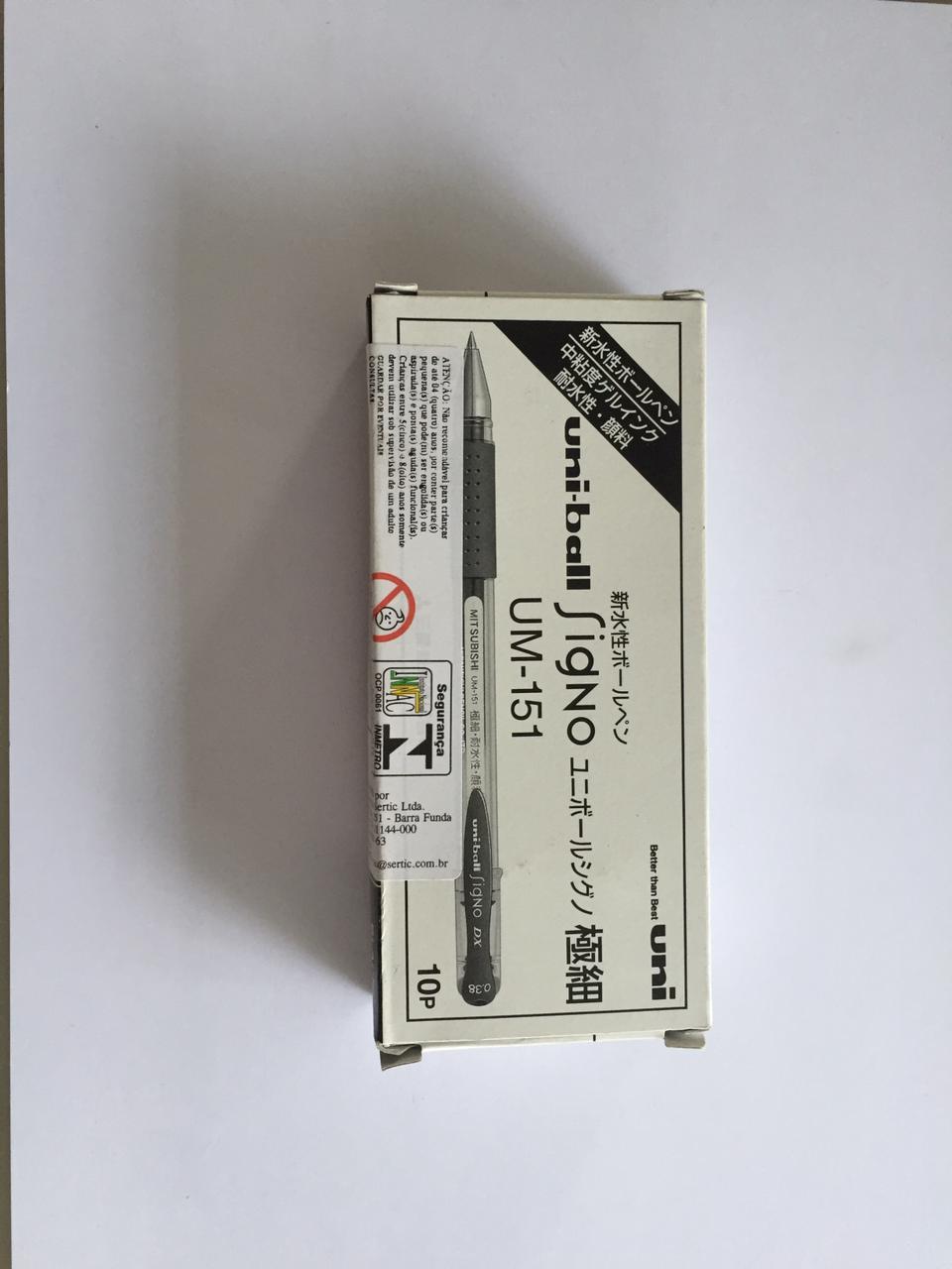 Caneta Esferográfica Signo 0.38mm UM-151 Uni Ball