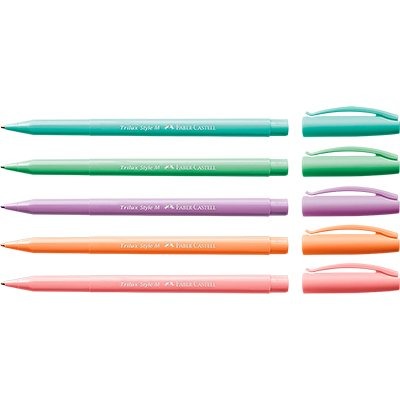 Caneta Esferográfica Trilux Style Colors Kit com 5 Unidades - Faber Castell