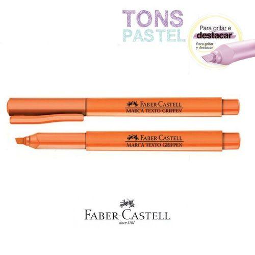Caneta Marca Texto Grifpen Faber Castell - Laranja Pastel