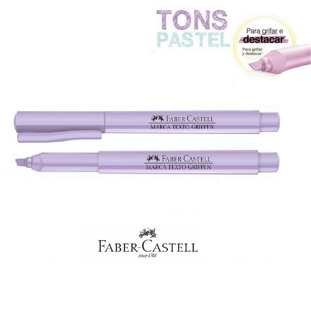 Caneta Marca Texto Grifpen Faber Castell - Lílas Pastel