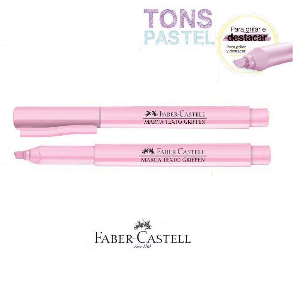 Caneta Marca Texto Grifpen Faber Castell - Rosa Pastel