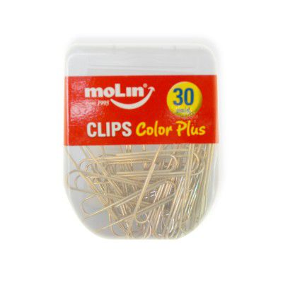 Clips Color Plus Metalizado 50 mm Molin