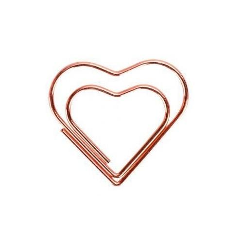 Clips Especial Coração Rose Gold 12 Unidades Molin