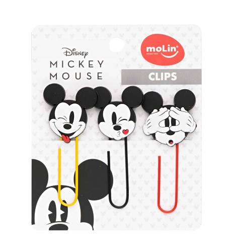 Clips Mickey Mouse 50mm 3 Unidades - Molin