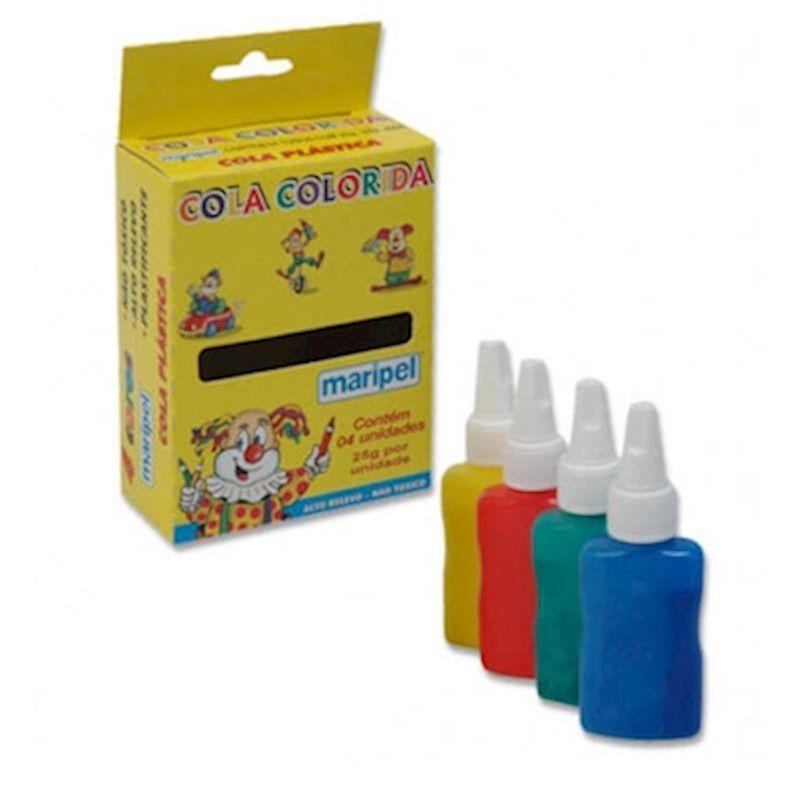 Cola colorida 4 unidades de 25g cada Maripel