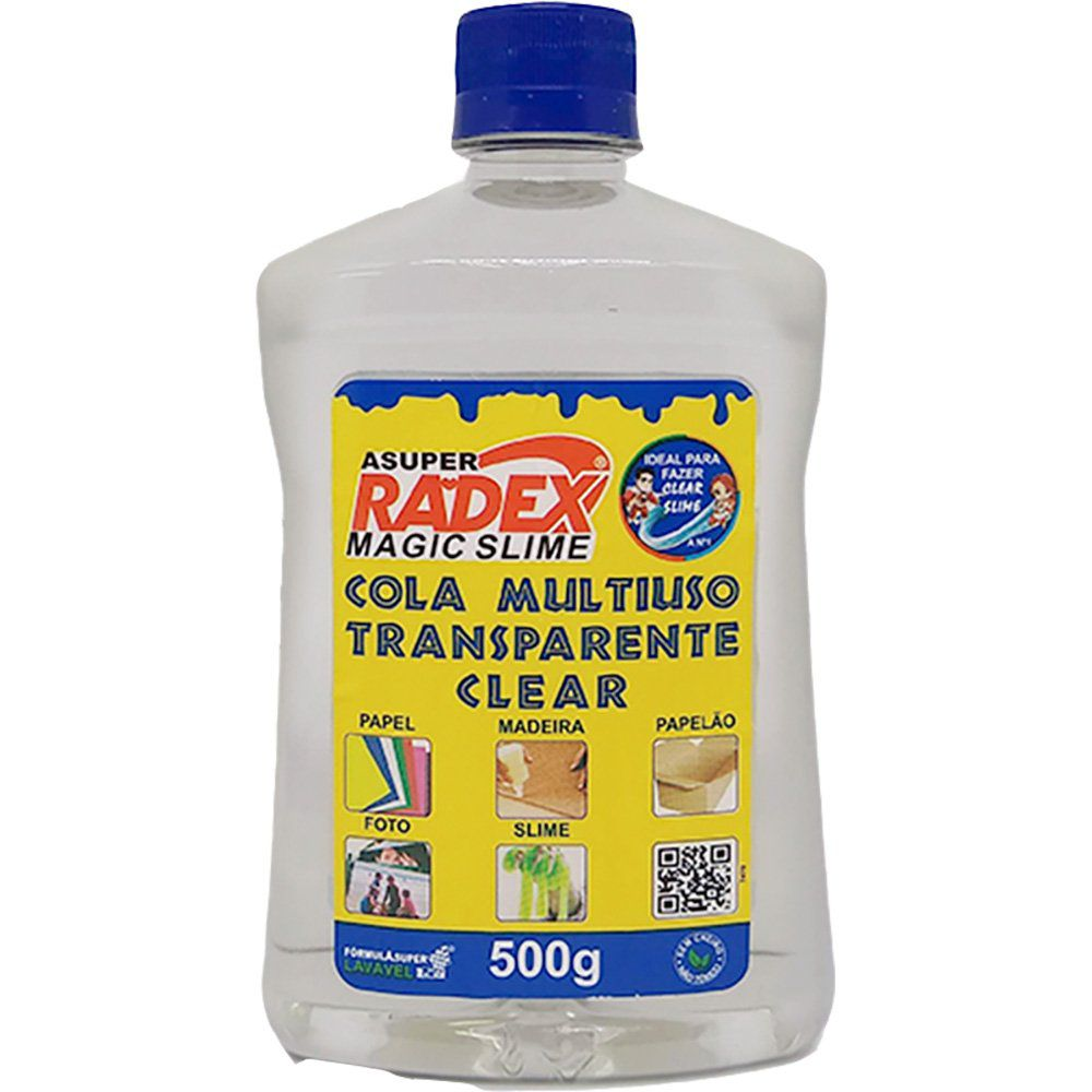 Cola para Slime 500g multiuso Magic Asuper Radex