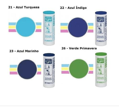Corante para Tingir Tecidos Kit 6 unidades de 45g- Tupy