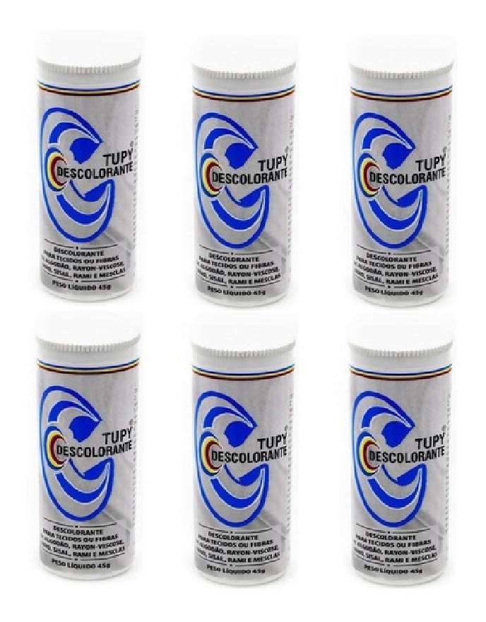 Descolorante para Tecidos com 6 unidades de 45g cada - Tupy