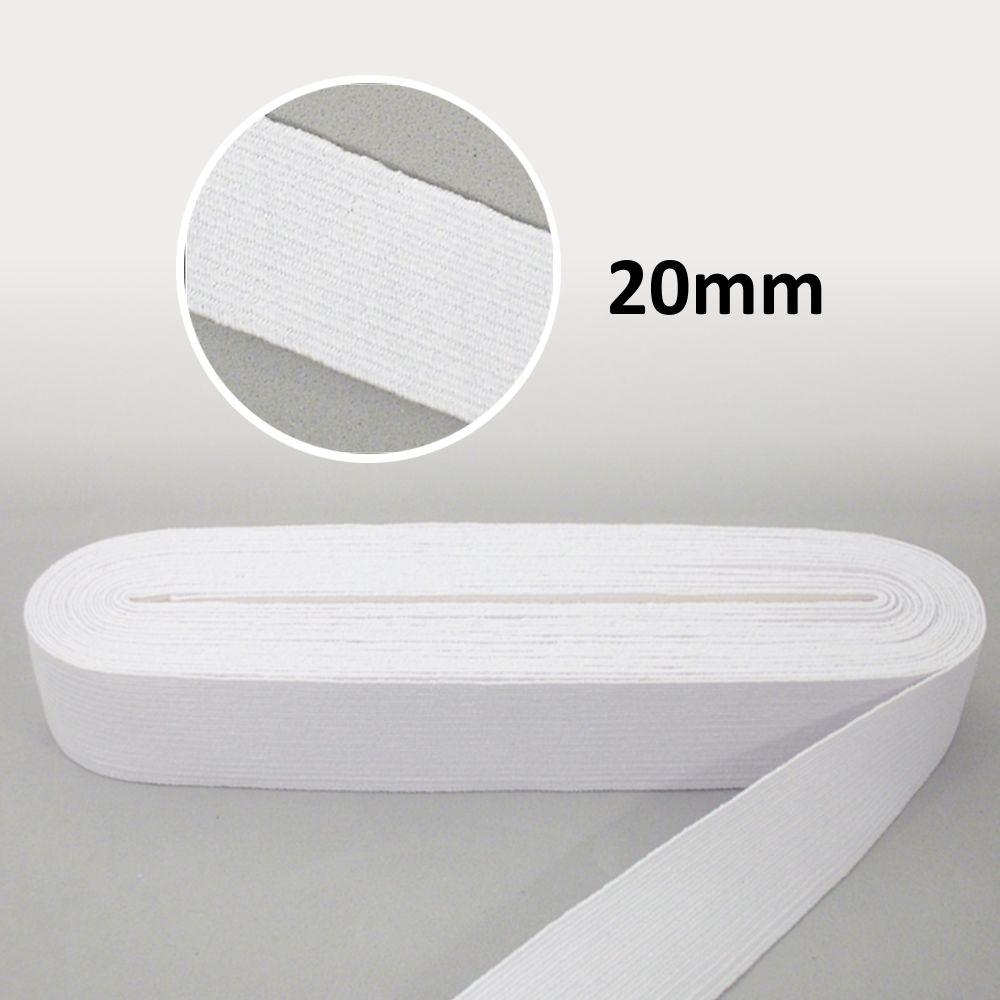 Elástico Chato N°28 Branco 20mm - São José