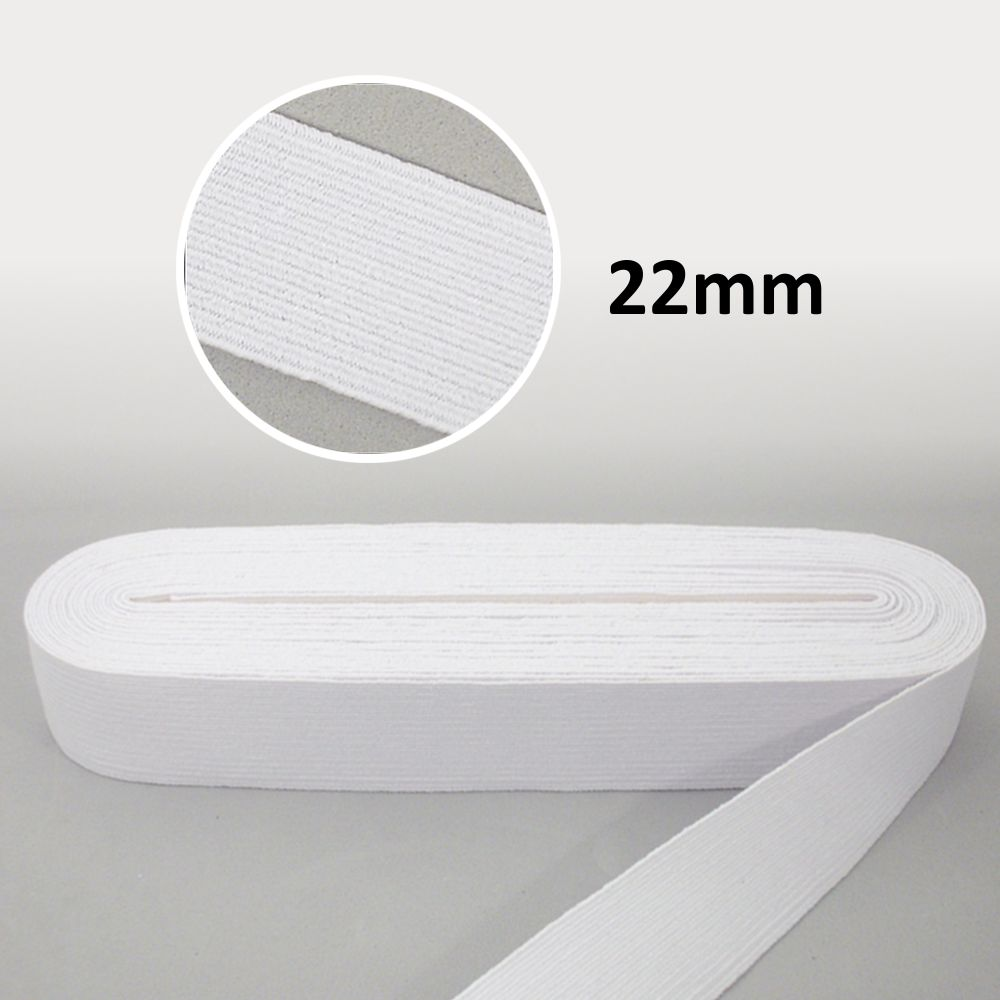 Elástico Chato N°32 Branco 22mm - São José
