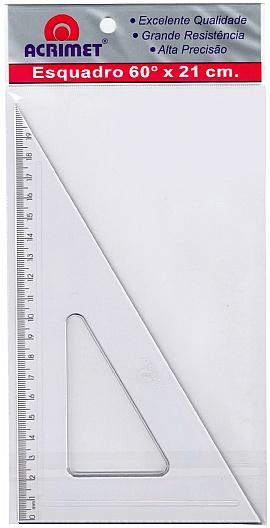 Esquadro Acrílico 60° x 21cm - Acrimet