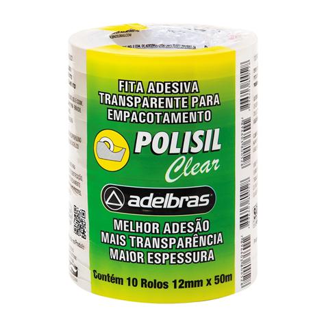 Fita Adesiva Transparente 12mmX50m Pacote 10 unidades - Adelbras