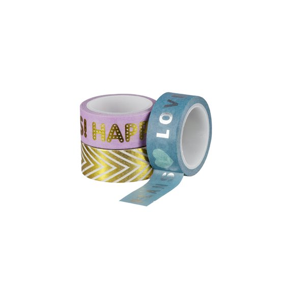 Fita Adesiva Washi Tape Shine Unididade Sortida Com 5m - Brw