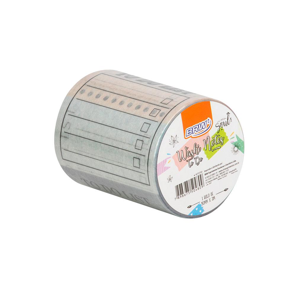 Fita Adesiva Washi Tape To do Unidade com 3metros - BRW