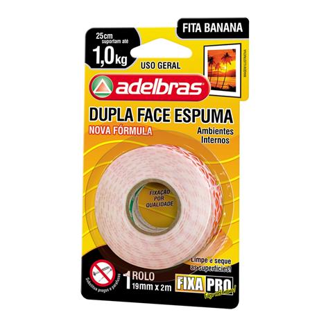 Fita Dupla Face Fixa Pro 941 19mm x 2m - Adelbras