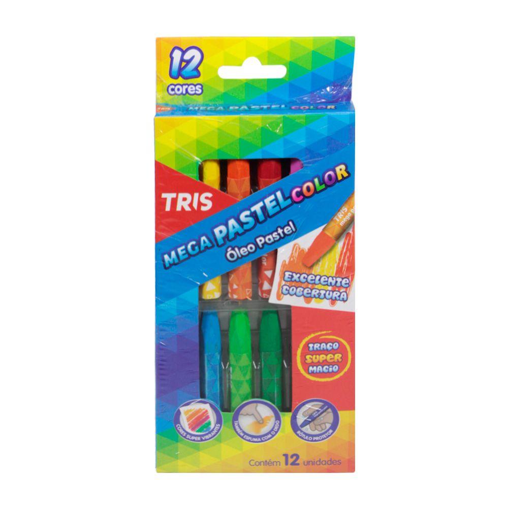 Giz Pastel 12 Cores Mega - Tris