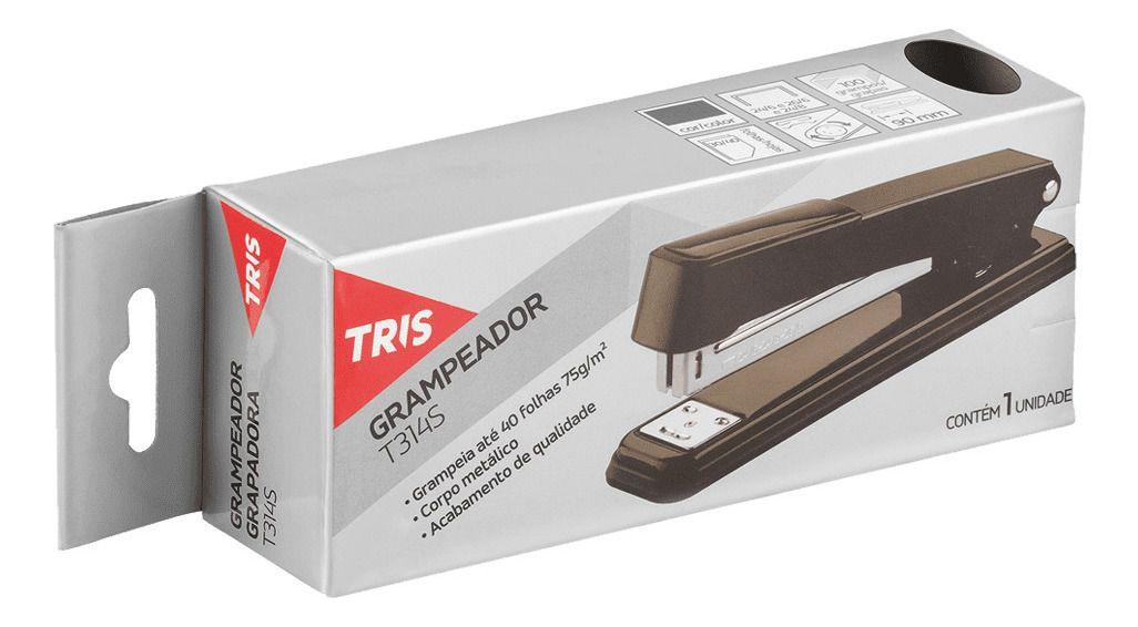 Grampeador De Metal E Resina Plástica T314s 40 Fls Tris