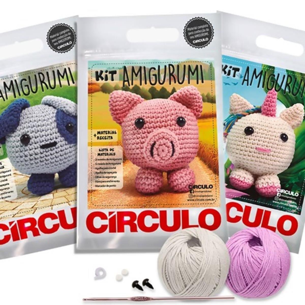 Kit Amigurumi Animais Círculo