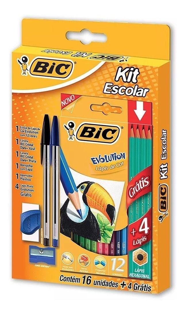Kit Escolar Bic 20 itens