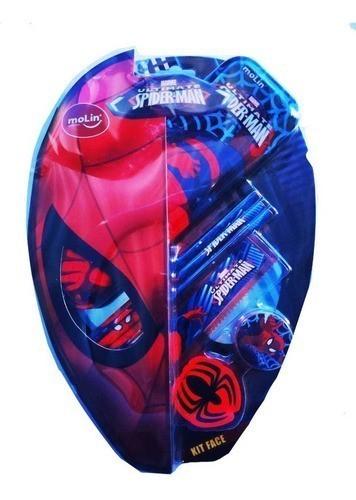 Kit Escolar Spiderman Face 7 itens Molin