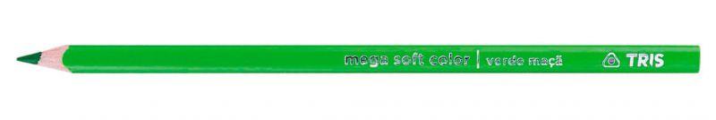 Kit Lápis De Cor Mega Soft Color 12 Cores + Lápis + Apontador – Tris