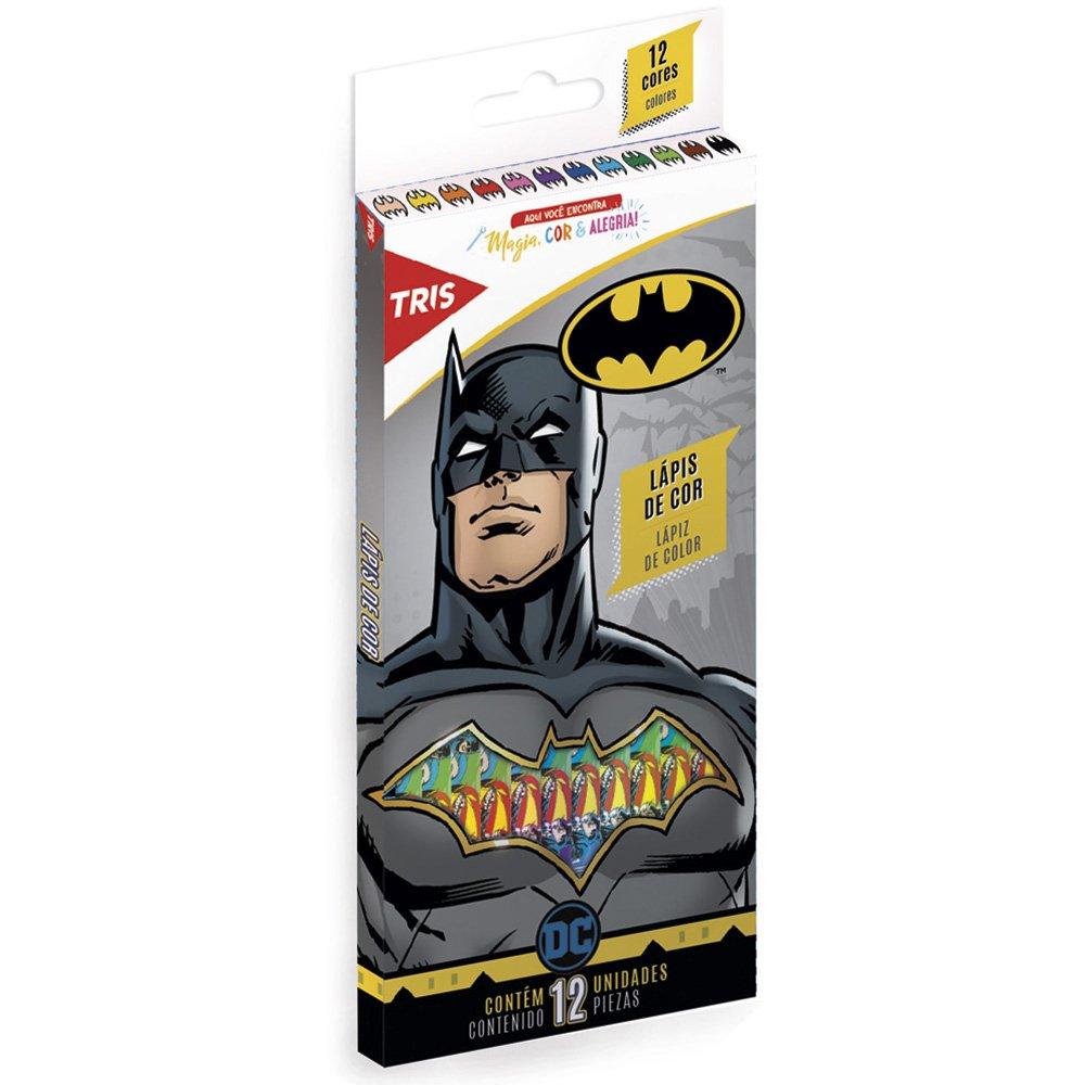 Lápis de Cor Batman com 12 cores  - Tris