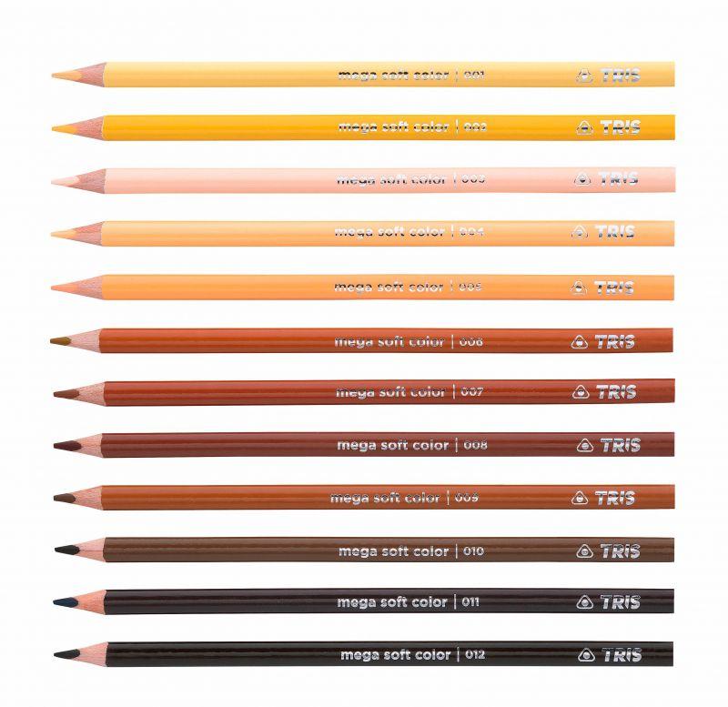 Lápis De Cor Mega Soft Color Tons De Pele – Tris