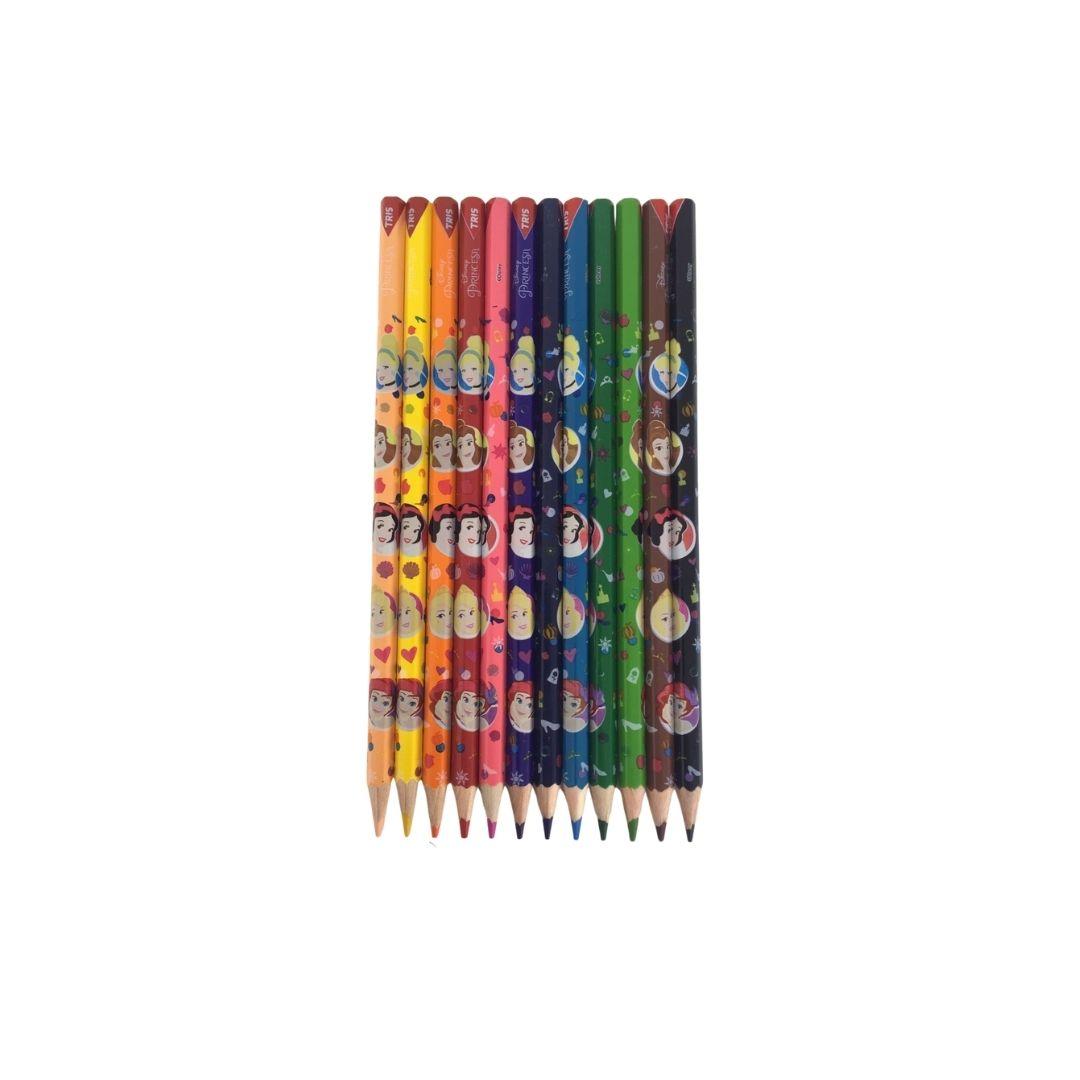 Lápis de Cor Princesas da Disney com 12 Cores - Tris