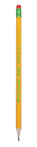 Lápis HB N.2 com Borracha Office Yellow - Molin