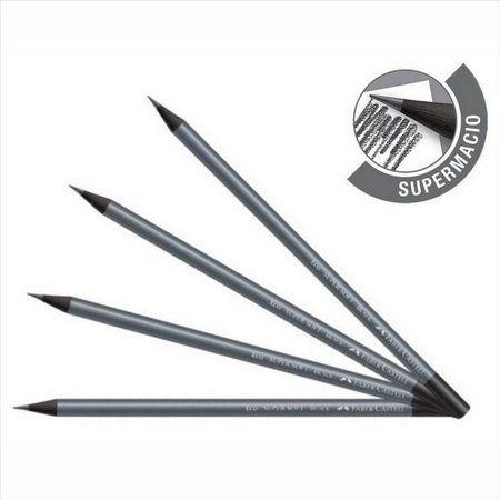 Lápis preto n.2 redondo Ecolápis SM907SOFT Faber Castell BT 4 UN