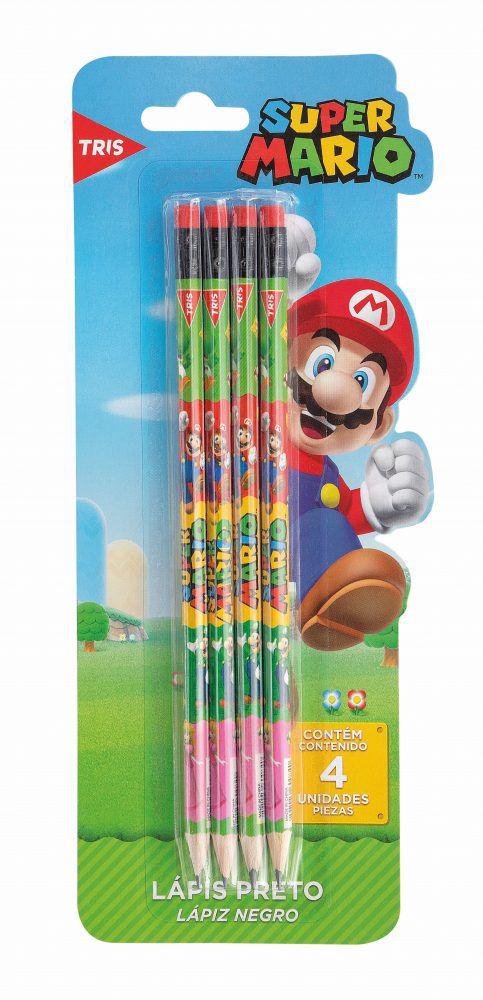 Lápis Preto Super Mario Com Borracha – Tris