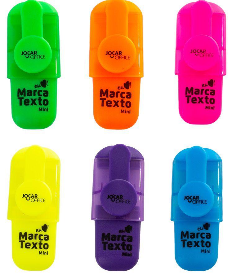 Marca Texto Mini kit com 4 unidades sortido Leonora