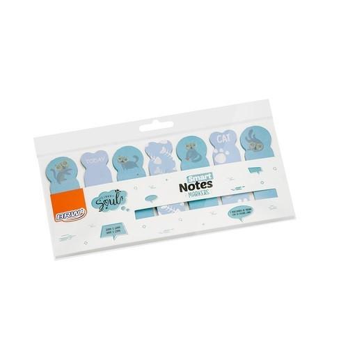 Marcadores Smart Notes Markers Azul 7 Unid. Com 20 Folhas Cada BRW