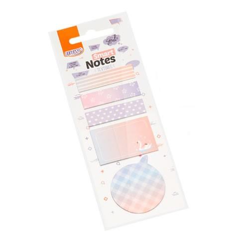 Marcadores Smart Notes Textures Azul 5 Unid. 20 Folhas Cada BRW