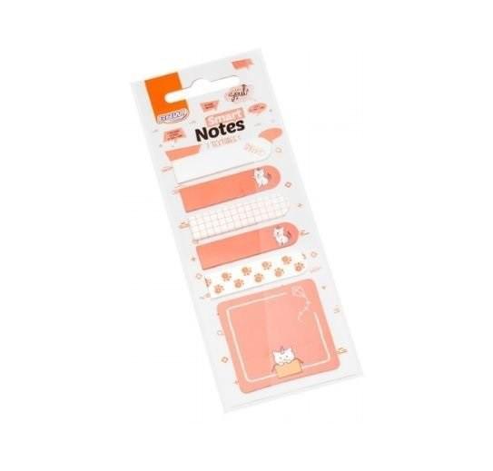 Marcadores Smart Notes Textures Rosa 5 Unid. 20 Folhas Cada BRW