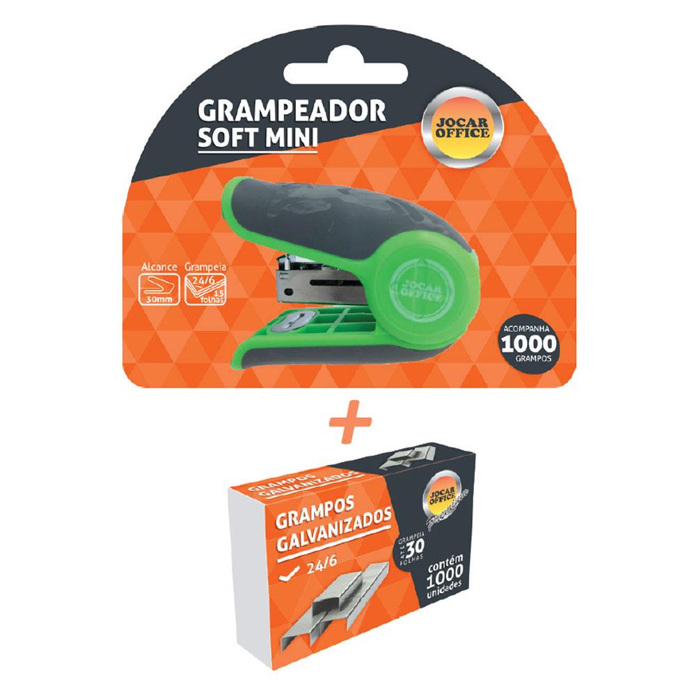 Mini Grampeador Emborrachado Kit/Grampo -  JOCAR OFFICE