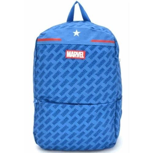 Mochila Anti Furto Azul Capitão America Costa G Marvel