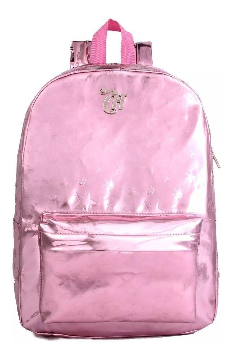Mochila G Capricho Metalizada Pink - DMW