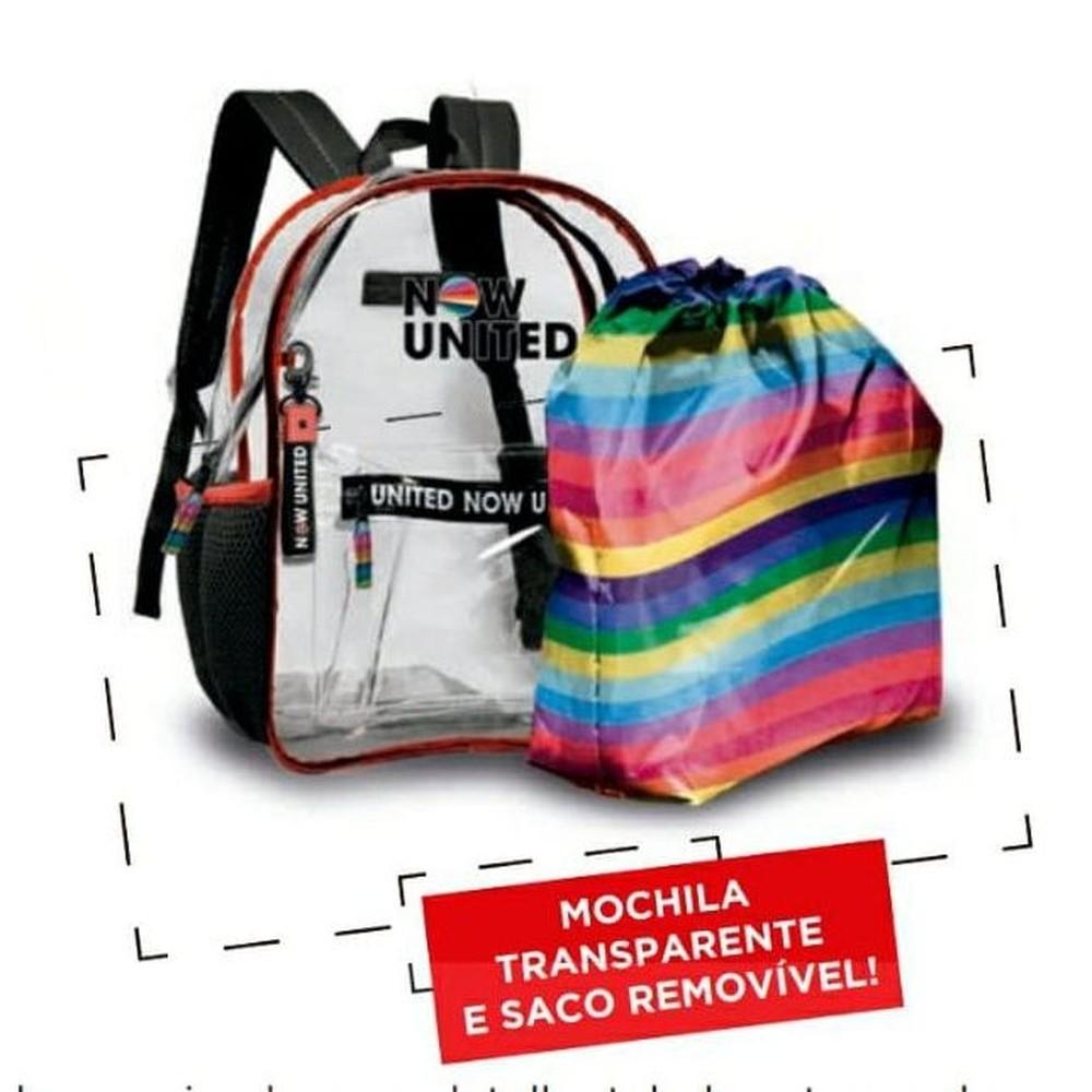 Mochila Now United Original Transparente Laptop Resistente