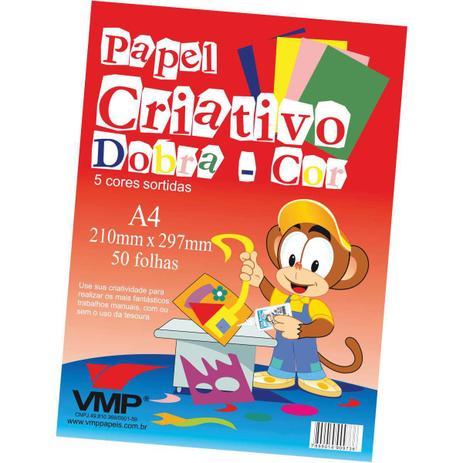 Bloco de Papel Criativo Dobra-Cor A4 com 50 folhas - VMP