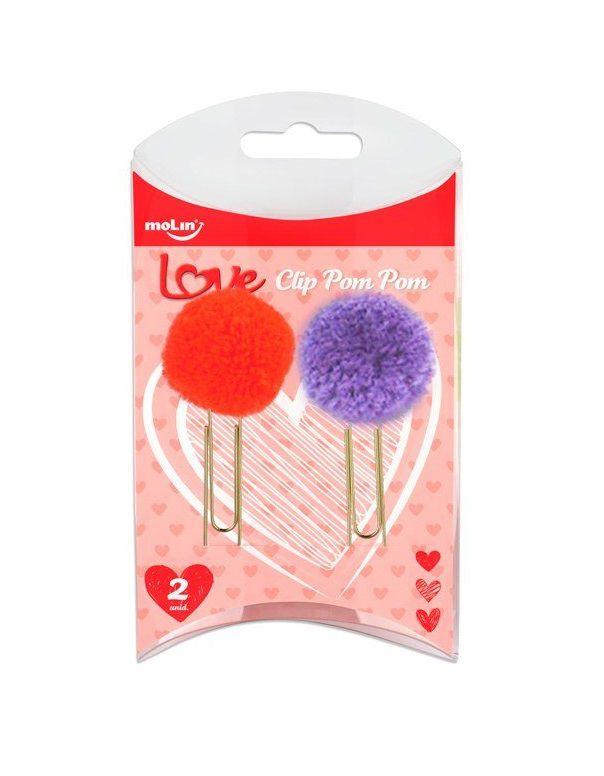 Clips Pom Pom Love - com 2 unidades - Molin