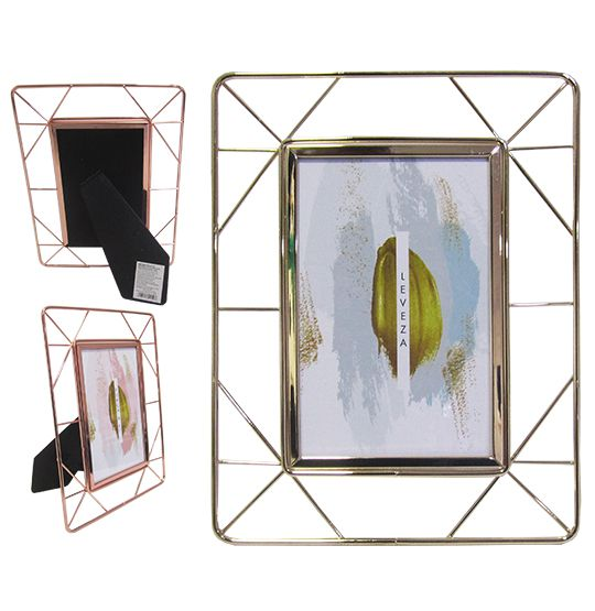 Porta Retrato 10X15 com Moldura de Metal  Vazado Metalizado FWB