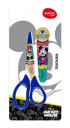 Tesoura com Protetor Mickey Mouse - Molin