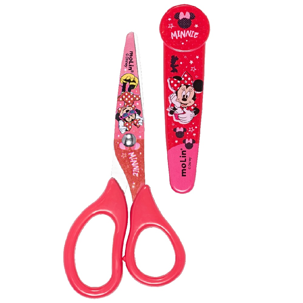 Tesoura com Protetor Minnie Mouse - Molin
