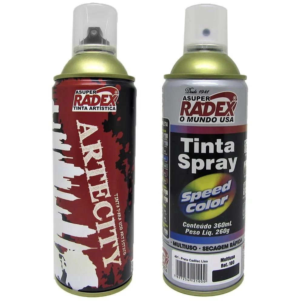 Tinta Spray Artística 260g/360mL Radex