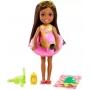 Boneca Barbie Chelsea Praia Flamingo